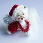 Annalee Silver Sparkle Kitty 2013 - 4""