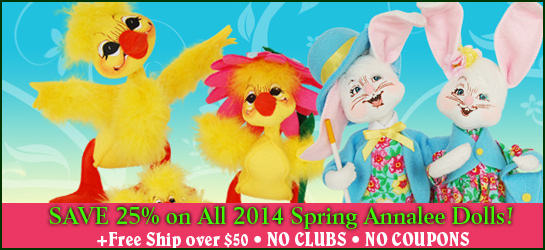 Annalee 2014 Spring Dolls 25% off